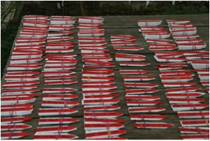 Aufträge mit rotem Stecktetikett